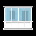 прямой балкон